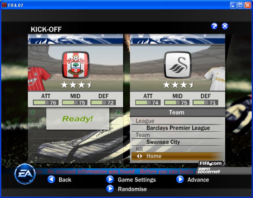 FIFA 07 patch. . Год выпуска 2010. . Жанр other. . Разработчик EASport.