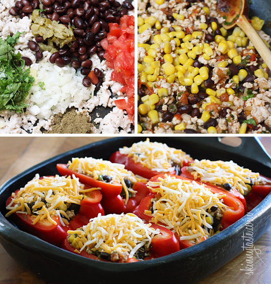 Santa Fe Turkey Stuffed Peppers | Skinnytaste
