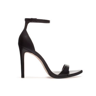 Zara leather open sandal 49.95 webshop shop online black spring new