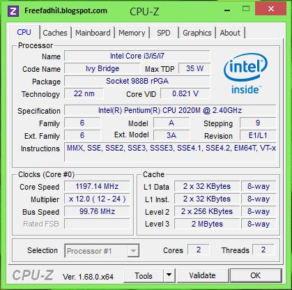 Spesifikasi di PC saya