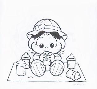 desenho da magali bebe para pintar