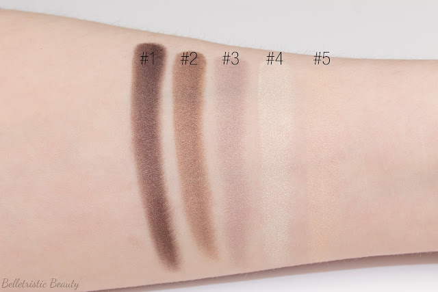 Yves Saint Laurent Saharienne 4 Eyeshadow Couture Palette 5 Color Ready To Wear applicator swatches in studio lighting with forced flash
