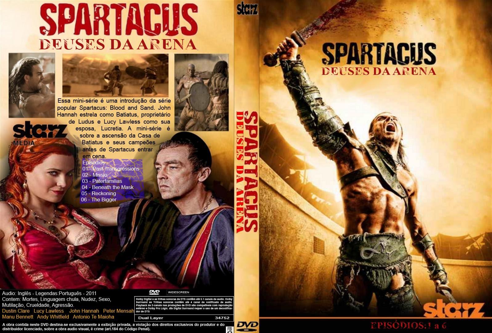 Filme Spartacus within spartacus deuses da arena episódios 1 a 6 - capas covers - capas