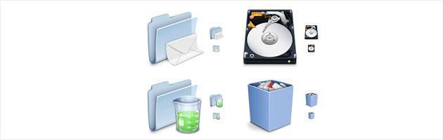 使いやすそうなフォルダアイコン | ゴミ箱・ドライブ・フォルダなどデスクトップアイコン色々