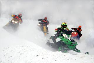 Snow Mobiles Racing