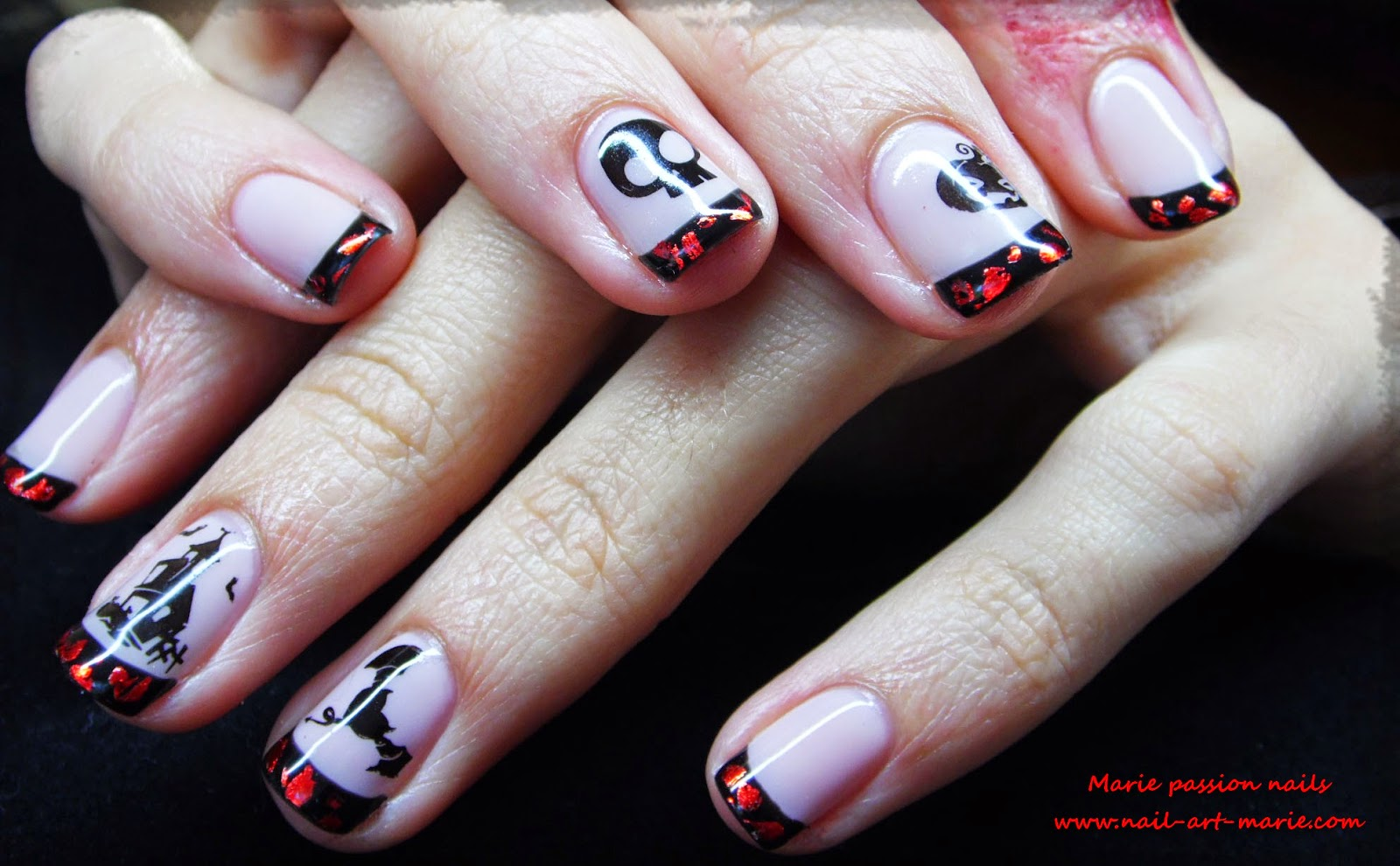 Nail Art d' Halloween en semi-permanent1