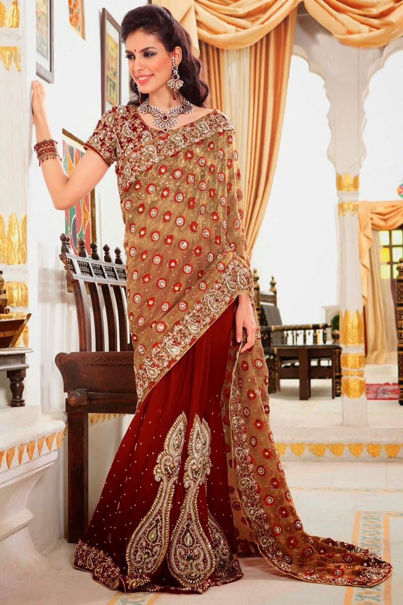 Designer Wedding Lahenga Saree Latest Fashion Today