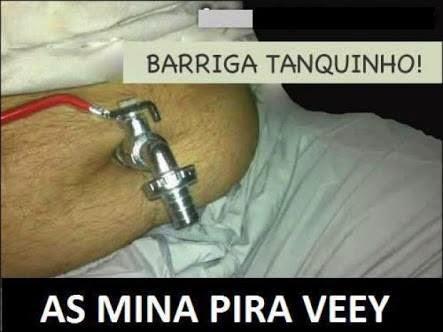 Imagem engraçada: Barriga tanquinho