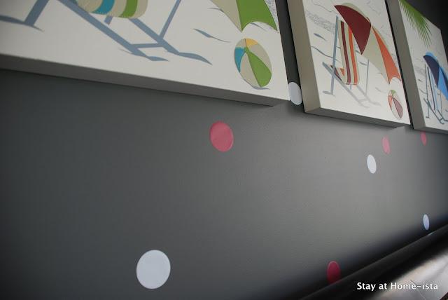 detail of wall polka dots