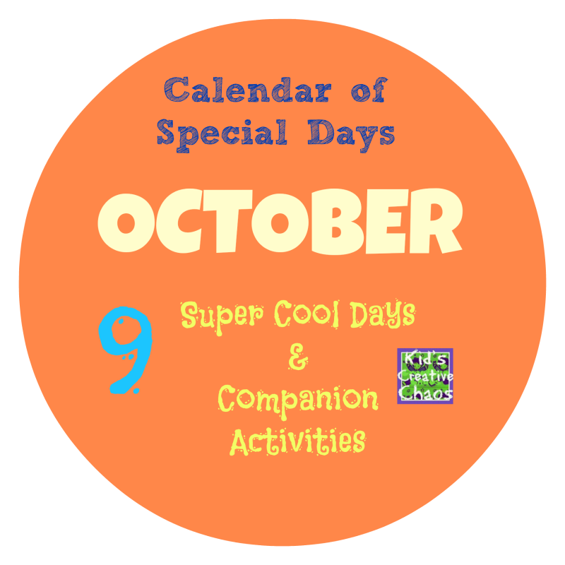 Super Cool Best October Calendar of Special Days and Unique Holidays for Kids