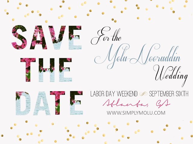 save the date, save the date card, modern save the date, atlanta save the date, wedding, wedding invitation, floral save the date, simply molu wedding, simply molu save the date