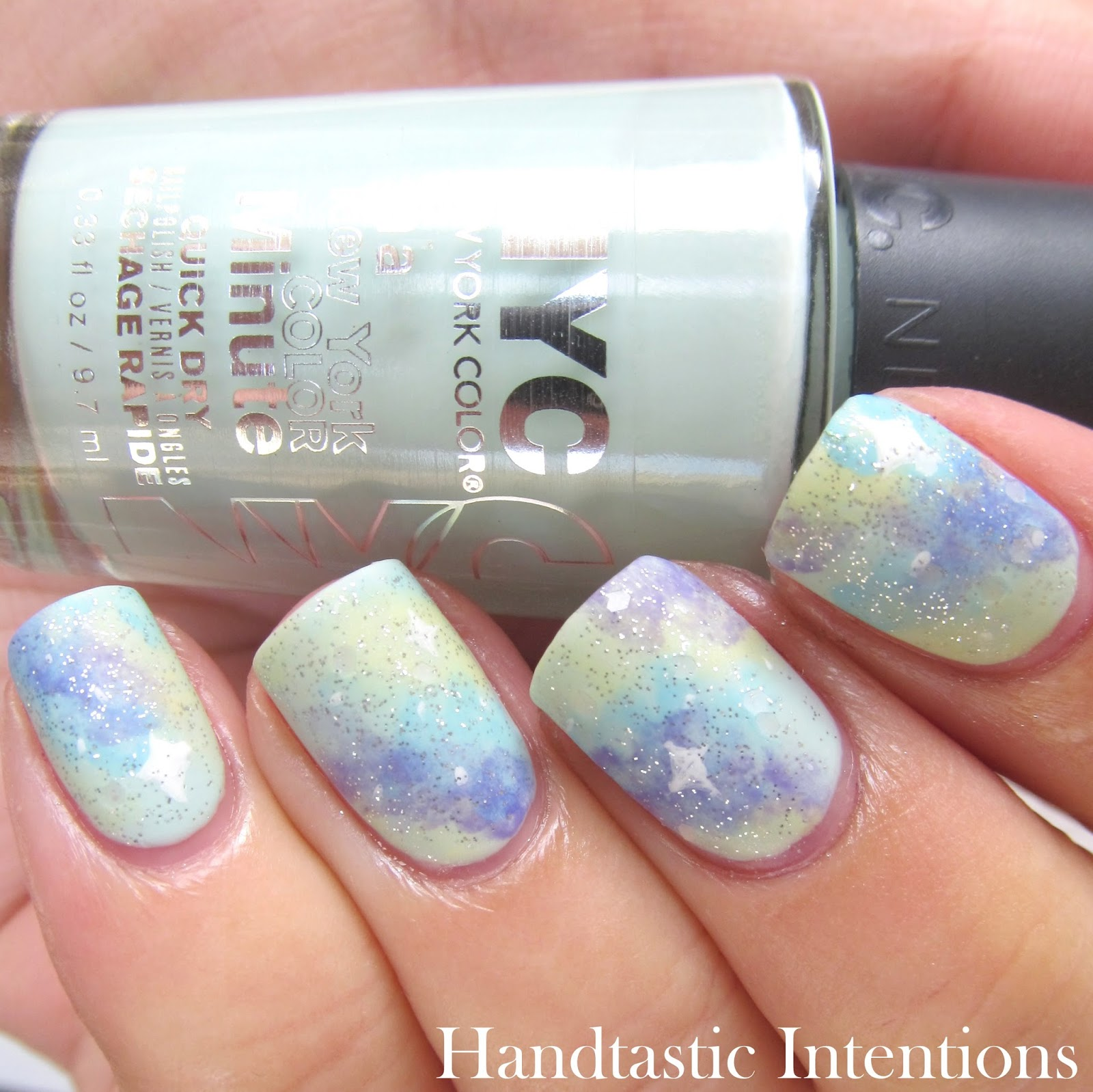 Handtastic Intentions: Nail Art: #31DC2014 Day 19 Galaxy Nails