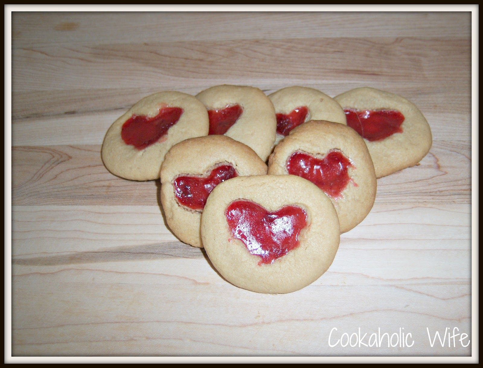 Peanut Butter and Jelly Heart Cookies