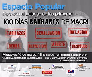 ESPACIO POPULAR INVITA 16 DE MARZO