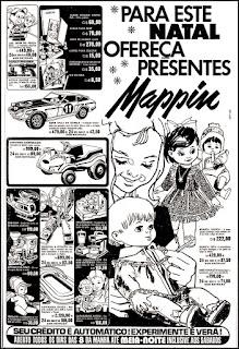 propaganda brinquedos no Mappin - 1978; écada de 70. os anos 70; propaganda na década de 70; Brazil in the 70s, história anos 70; Oswaldo Hernandez;