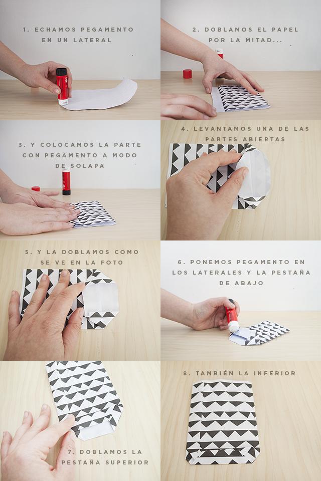 Milowcostblog diy bolsas de papel para regalos - Como hacer bolsas de regalo ...