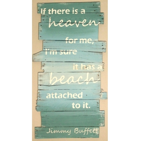 Jimmy Buffett beach quote sign