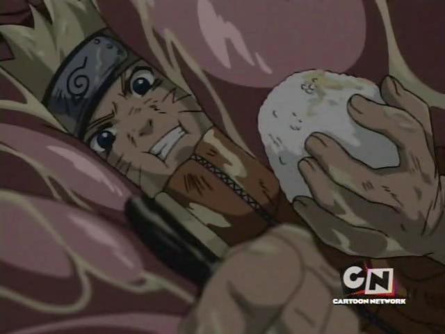 Naruto di dalam perut ular raksasa