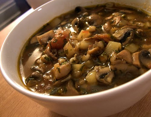last weekend my boss made an incredible mushroom barley soup for us i ...