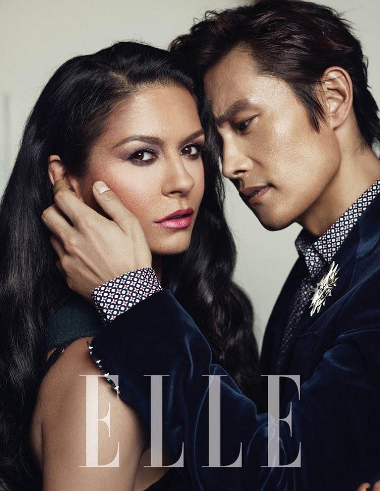 lee byung hun amp catherine zetajones on cover magazine
