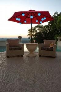 Patio Umbrella Lights Rattan Sofa 199x300
