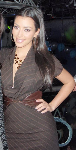 Kim Kardashian in Brown Dresses