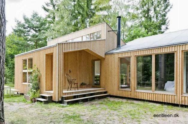 Casa moderna de madera construida con el sistema D-Process en Dinamarca