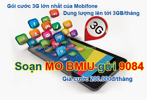 Gói cước 3G dung lượng lớn nhất của Mobifone