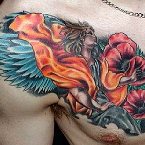 Spicy tattoo designs new trend of chest tattoos for men for Chest tattoo prices
