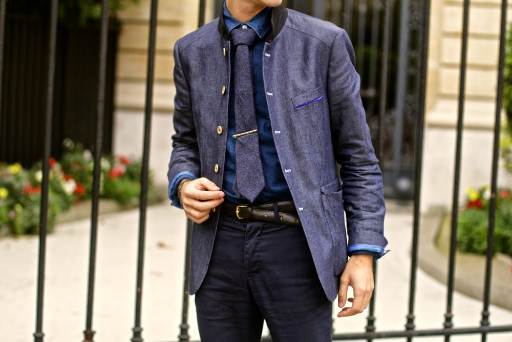 cravate tweed blog mode homme