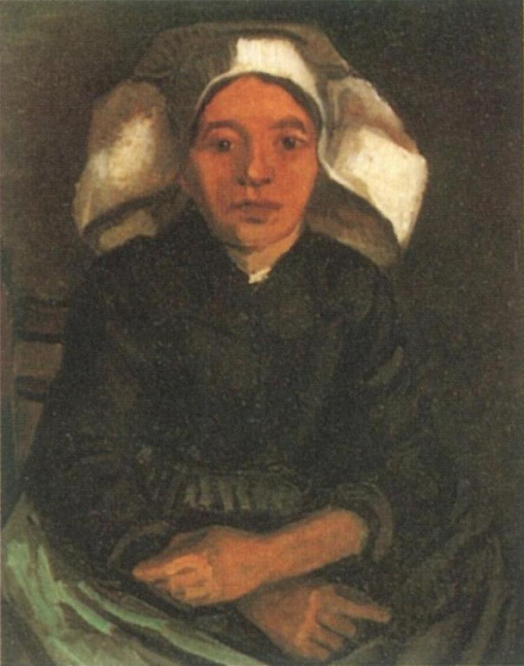 Peasant Woman, Seated with White Cap (F 143, JH 546) by Vincent van Gogh