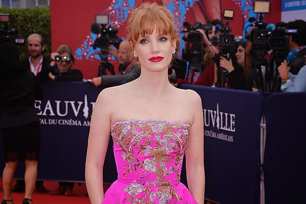 Jessica Chastain at the opening of the American Film Festival in Deauville
