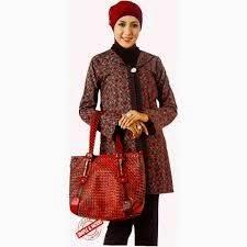 Model baju Batik Kantor Elegan