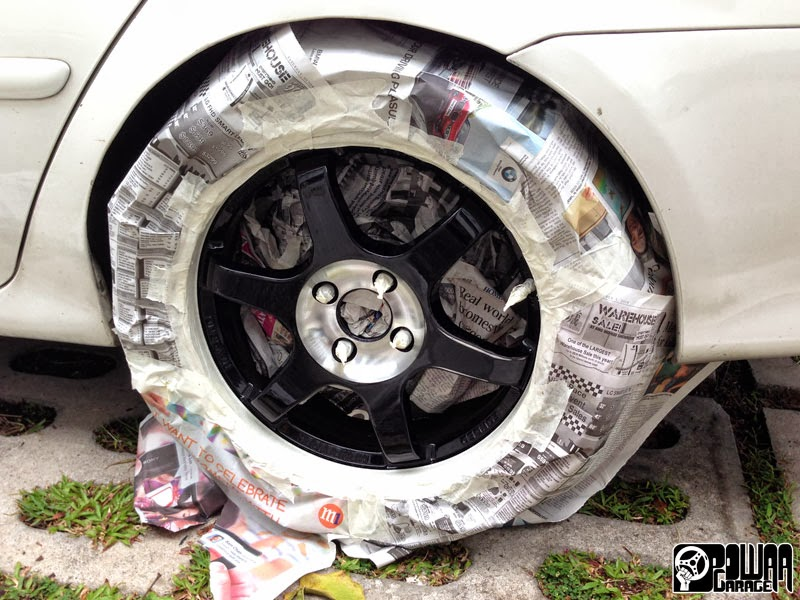 Painting Car Rims White