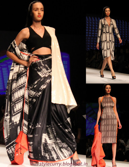 Masaba Gupta for Satya Paul at Wills Lifestyle India Fashion Week Autumn/Winter 13 displaying Telephone Booth prints