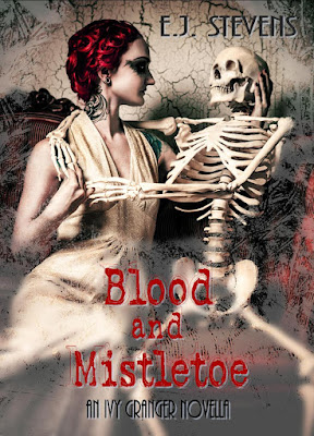 Blood and Mistletoe paranormal urban fantasy Ivy Granger Psychic Detective series by E.J. Stevens