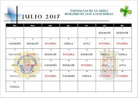 FARMACIA DE GUARDIA JULIO 2017