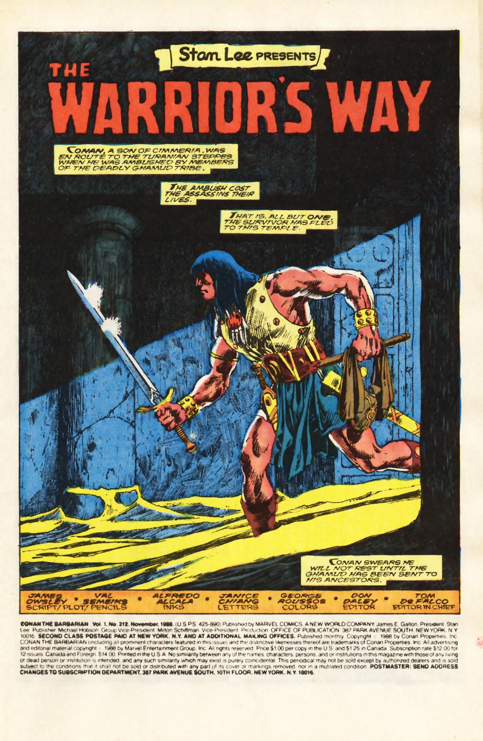 Conan the Barbarian (1970) Issue #212 #224 - English 2