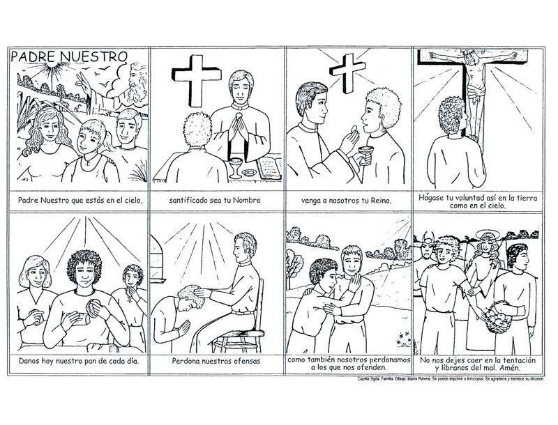 Tallita y las clases de religión: `Padre Nuestro para colorear...