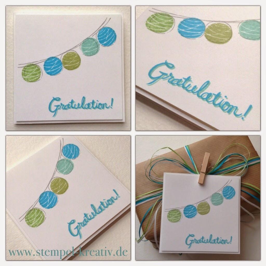 Gratulation - Glückwunschkarte