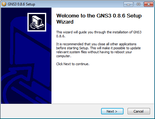 GNS3 0.8.6 Setup