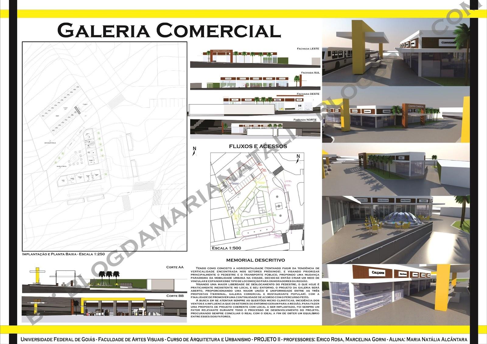 Etapa 3 galeria comercial projeto 2 ufg arq urb - Galeria comercial ...