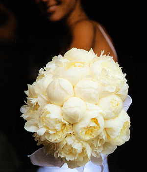 white peony bouquet Wedding Inspiration: Peony Bouquets