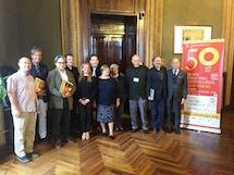 Il Sindaco della Città, Gianfranco Cuttica e l'Assessore Cherima Fteita