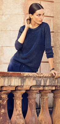 Massimo Dutti mujer primavera verano 2013 Lookbook jersey y pantalón holgado