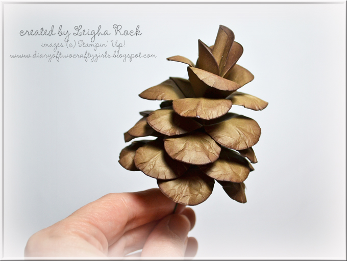 diary of two crafty girls  gorgeous jumbo paper pinecones