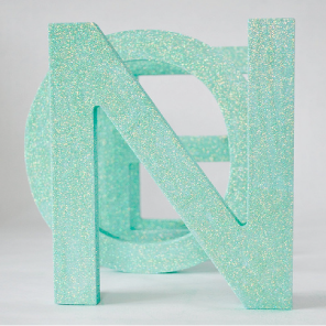 Glittered Noel wooden letters by Torie Jayne