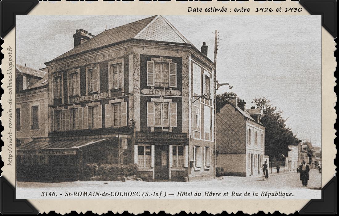 Saint romain de colbosc l 39 hotel du havre for Les noms des hotels