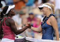 Black Tennis Pro's Sloane Stephens vs Caroline Wozniacki 2nd Round 2011 BNP Paribas Open