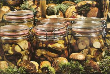 Conserves de cèpes à l'huile
